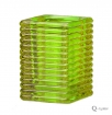 SQUARE RIBBED GLASS LIME GREEN