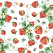 SERVET STRAWBERRIES ALL OVER WIT 33x33CM