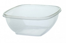 SQUARE BOWL 375ML CLEAR 15012