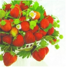 SERVET STRAWBERRY BOWL 33x33CM